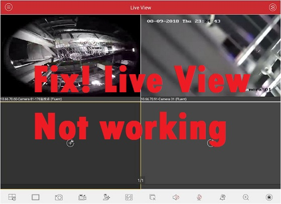 iVMS-4500 Live View Not Working