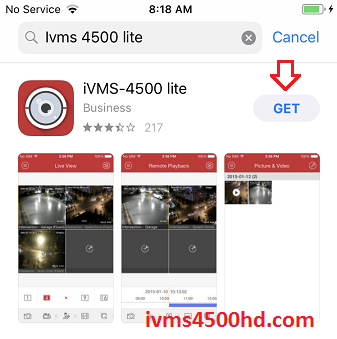 iVMS-4500 for iPhone iPad iOS Free Download